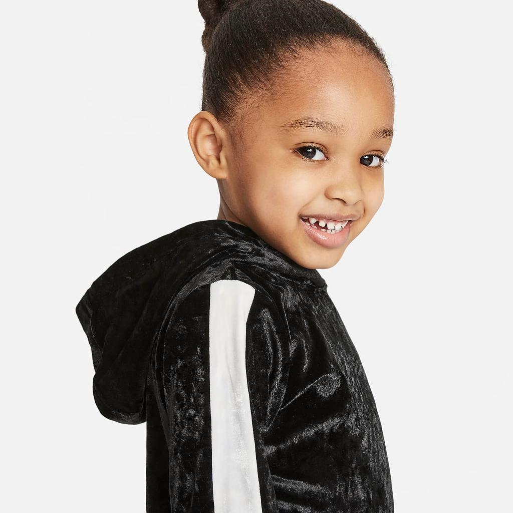Nike Toddler Crushed Velour Hoodie Dress 26H115-023