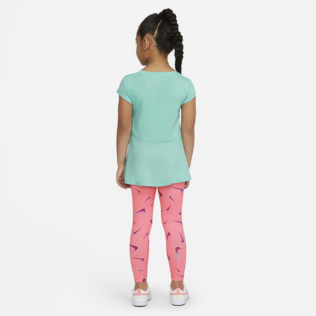 Nike Little Kids' Swoosh Top and Leggings Set 36H503-A0G