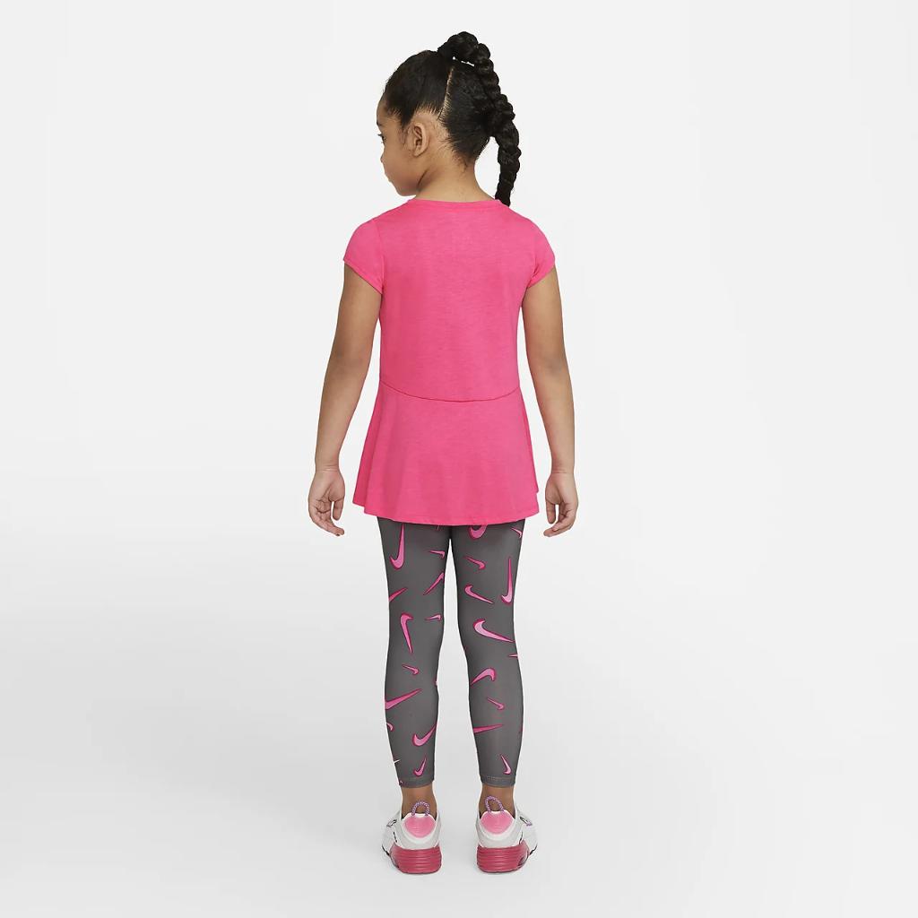 Nike Little Kids' Swoosh Top and Leggings Set 36H503-M19