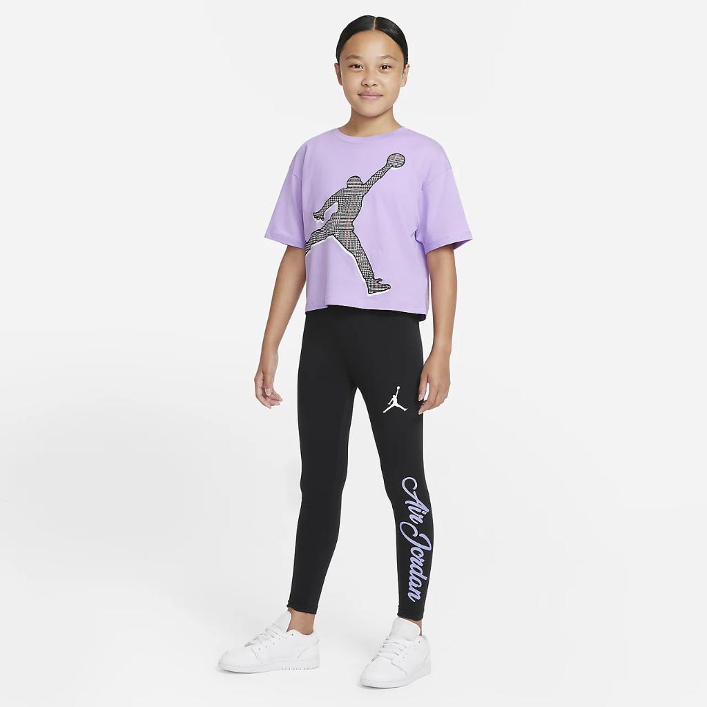 Jordan Big Kids' (Girls') High-Waisted Leggings 45B045-023