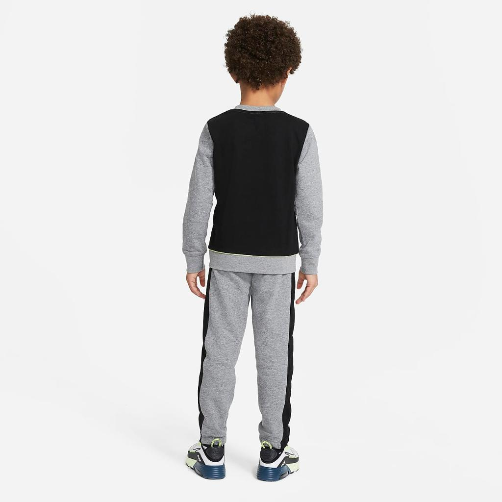 Nike Little Kids' Color-Block Crew and Joggers Set 86H470-GEH