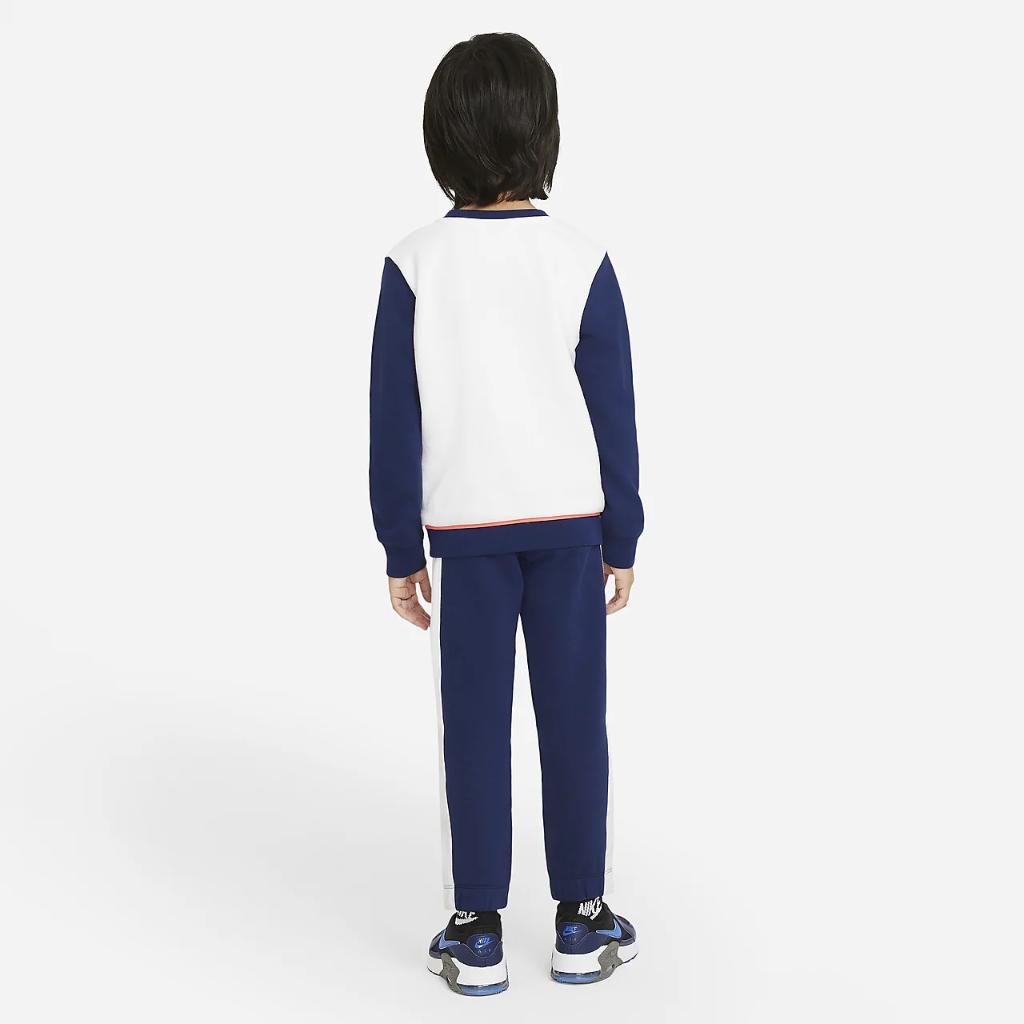 Nike Little Kids' Color-Block Crew and Joggers Set 86H470-U9J
