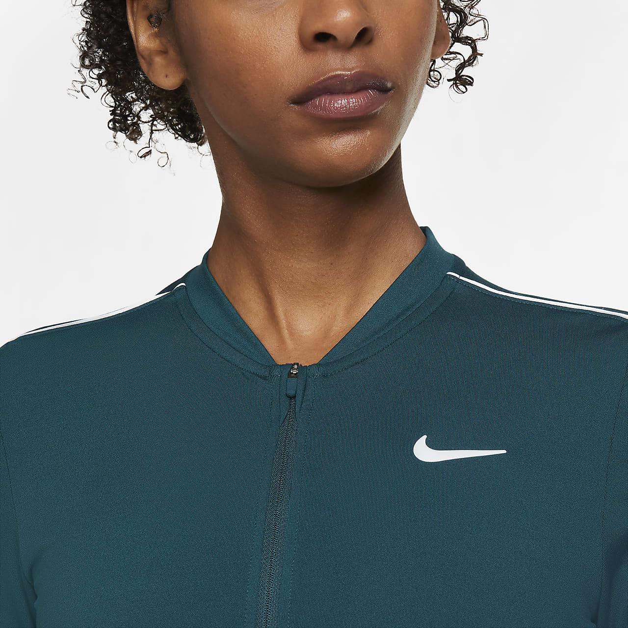 NikeCourt Dri-FIT Women's 1/2-Zip Long-Sleeve Tennis Top 939322-300