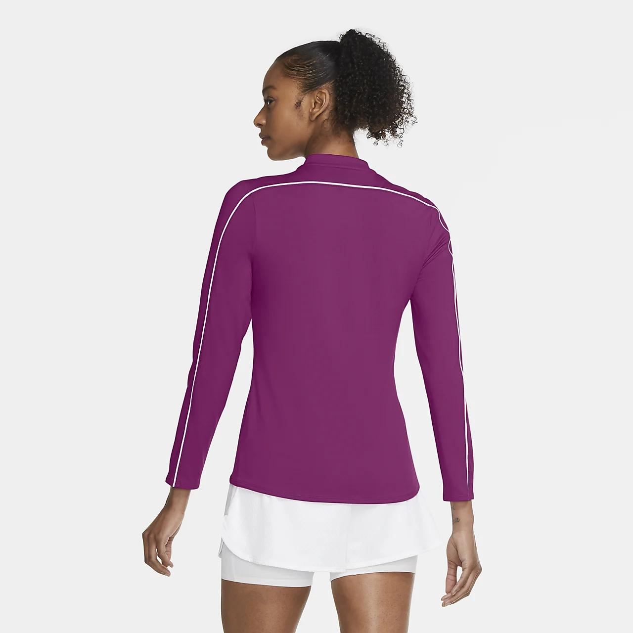 NikeCourt Dri-FIT Women's 1/2-Zip Long-Sleeve Tennis Top 939322-564