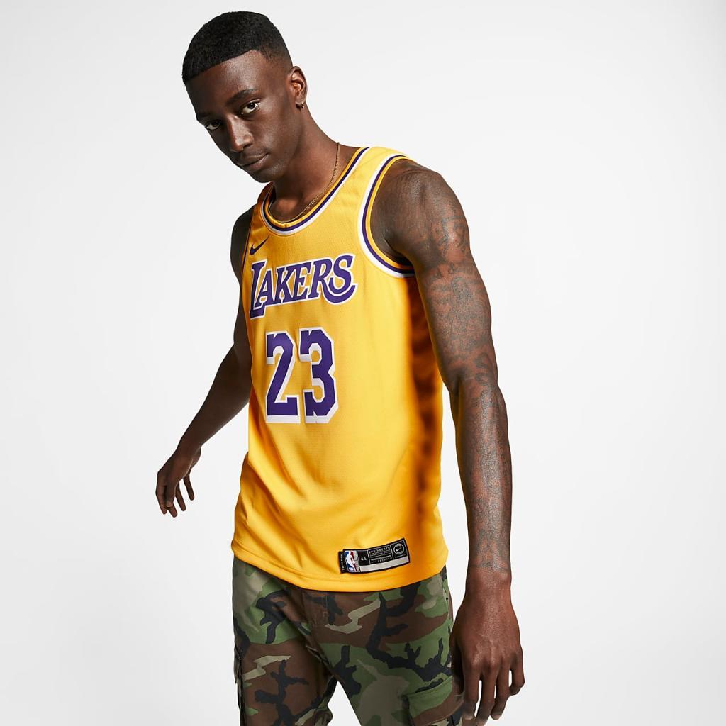 르브론 제임스 레이커스 아이콘 에디션 나이키 NBA 스윙맨 저지 AA7099-741