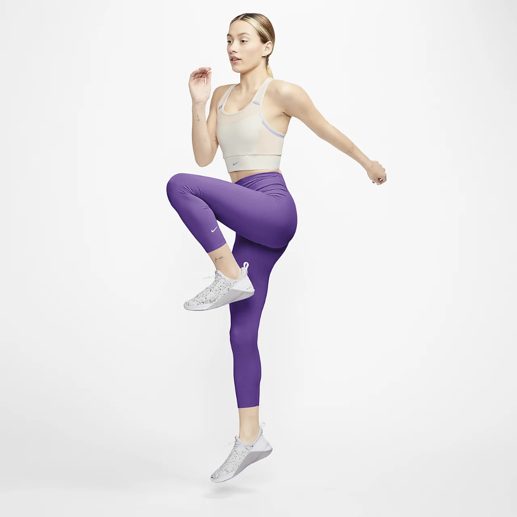 Nike One Luxe Women's Mid-Rise Crop Leggings AT3100-528