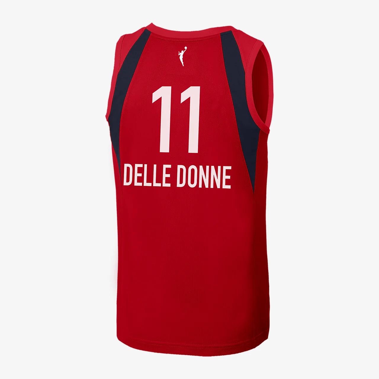 엘레나 델 도네 워싱턴 미스틱스 나이키 WNBA 농구 저지 BBP32882-002