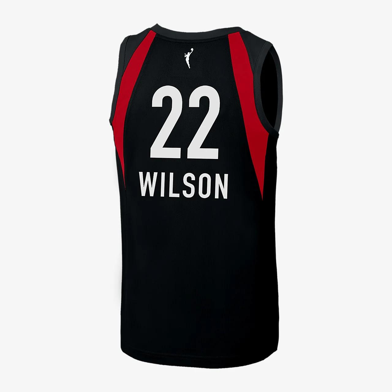 아자 윌슨 라스베이거스 나이키 WNBA 농구 저지 BBP32882-100