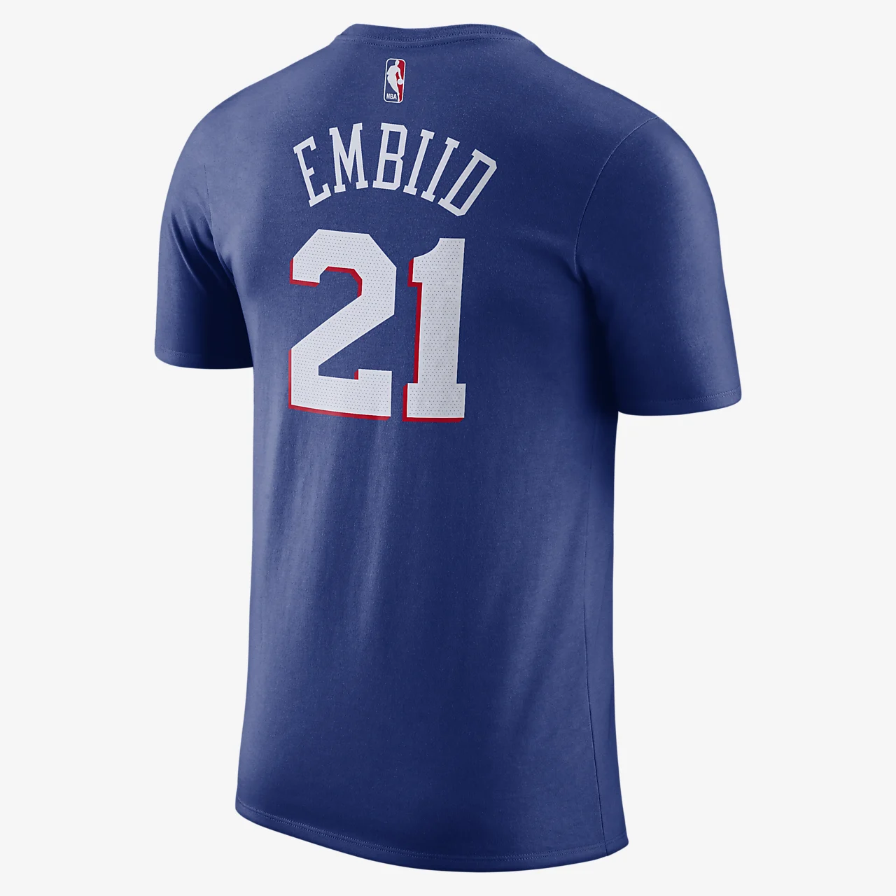 조엘 엠비드 필라델피아 76ers 나이키 드라이핏 남자 NBA 티셔츠 BQ1560-498