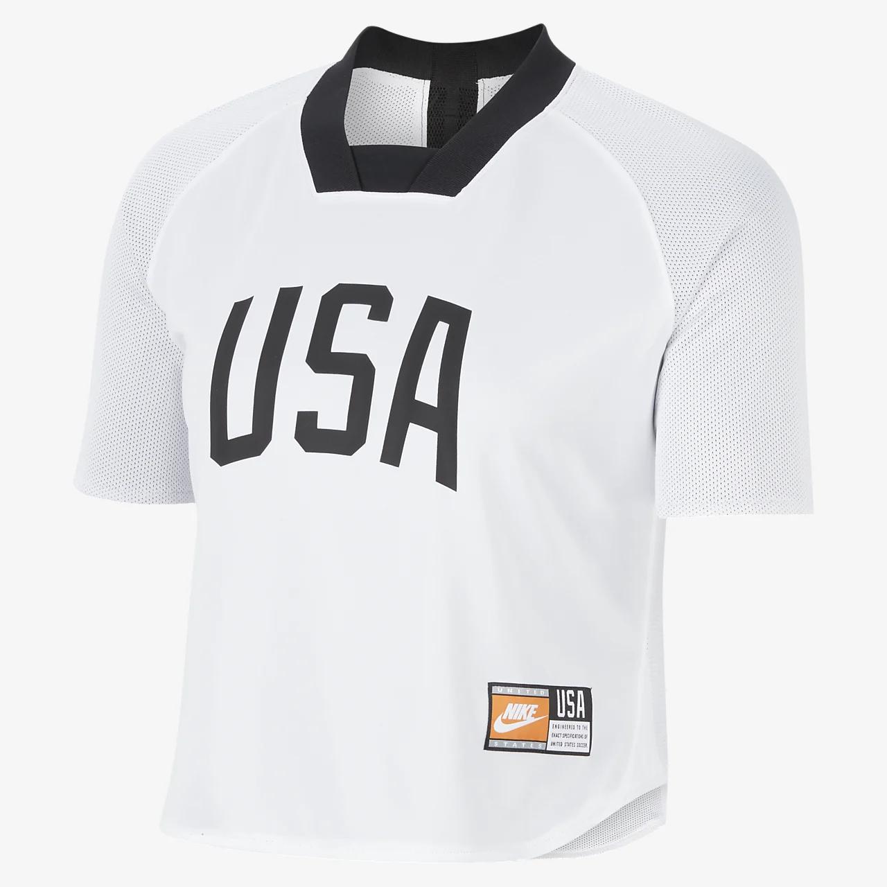 미국 여자 반팔 리버스블 축구 탑 CI8416-100