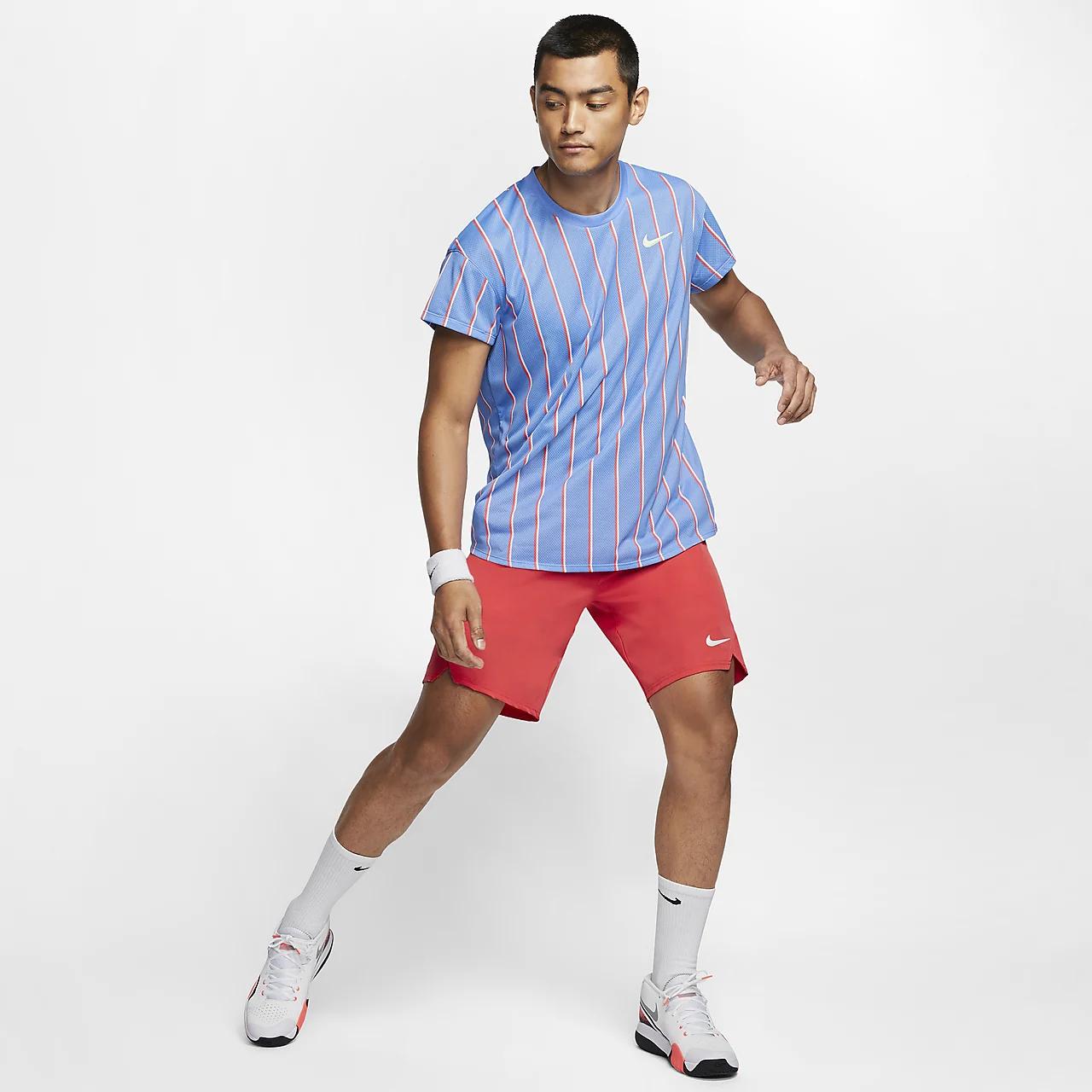 나이키코트 슬램 남자 반팔 테니스 톱 CI9150-478
