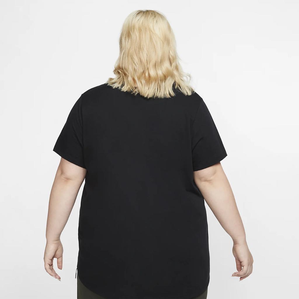 나이키 스포츠웨어 필수 여성 티셔츠(플러스 사이즈) CJ2301-010