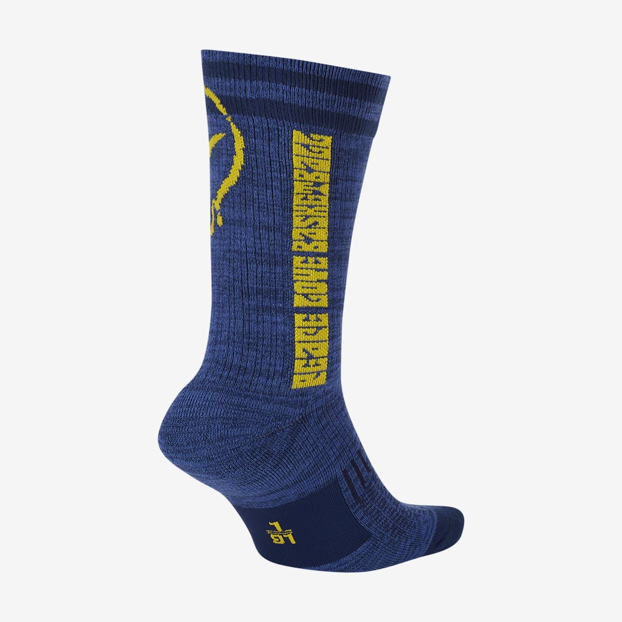 "Nike SNKR SOX ""Peace, Love, Basketball"" Basketball Crew Socks CK6785-492"