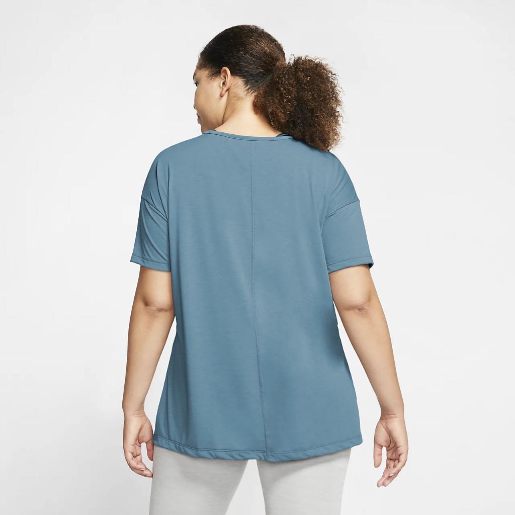 Nike Yoga Women's Short-Sleeve Top (Plus Size) CT0538-424