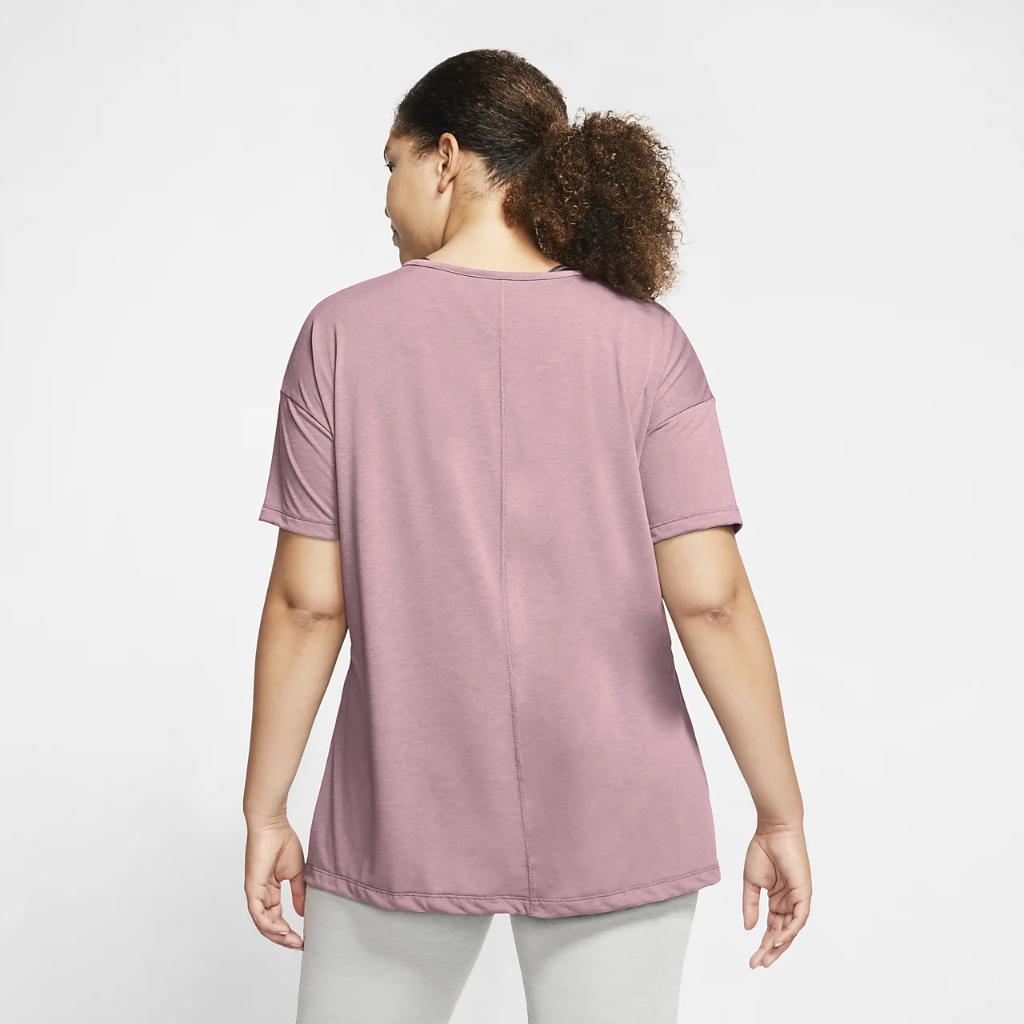Nike Yoga Women's Short-Sleeve Top (Plus Size) CT0538-630