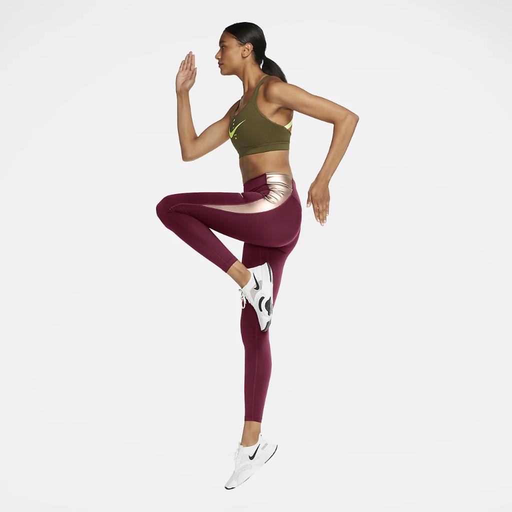 Nike One Women's Mid-Rise Color-Block Leggings CU5020-614