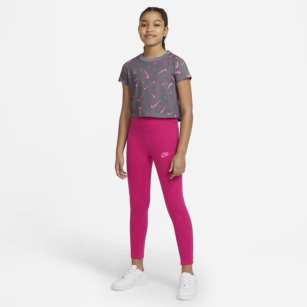 Nike Sportswear Favorites Big Kids' (Girls') High-Waisted Leggings CU8248-615
