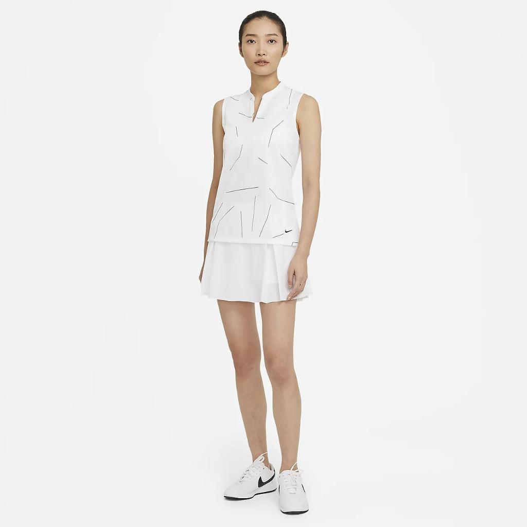 Nike Breathe Women's Sleeveless Printed Golf Polo CU9353-100
