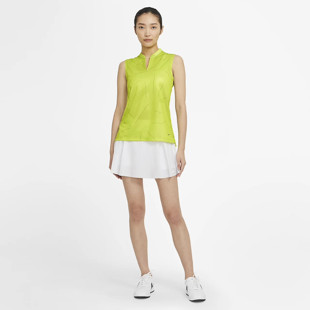 Nike Breathe Women's Sleeveless Printed Golf Polo CU9353-389