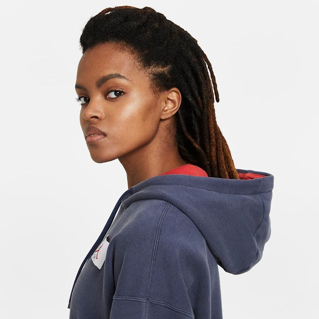 Jordan Flight Women's Fleece Pullover Hoodie CV7737-410