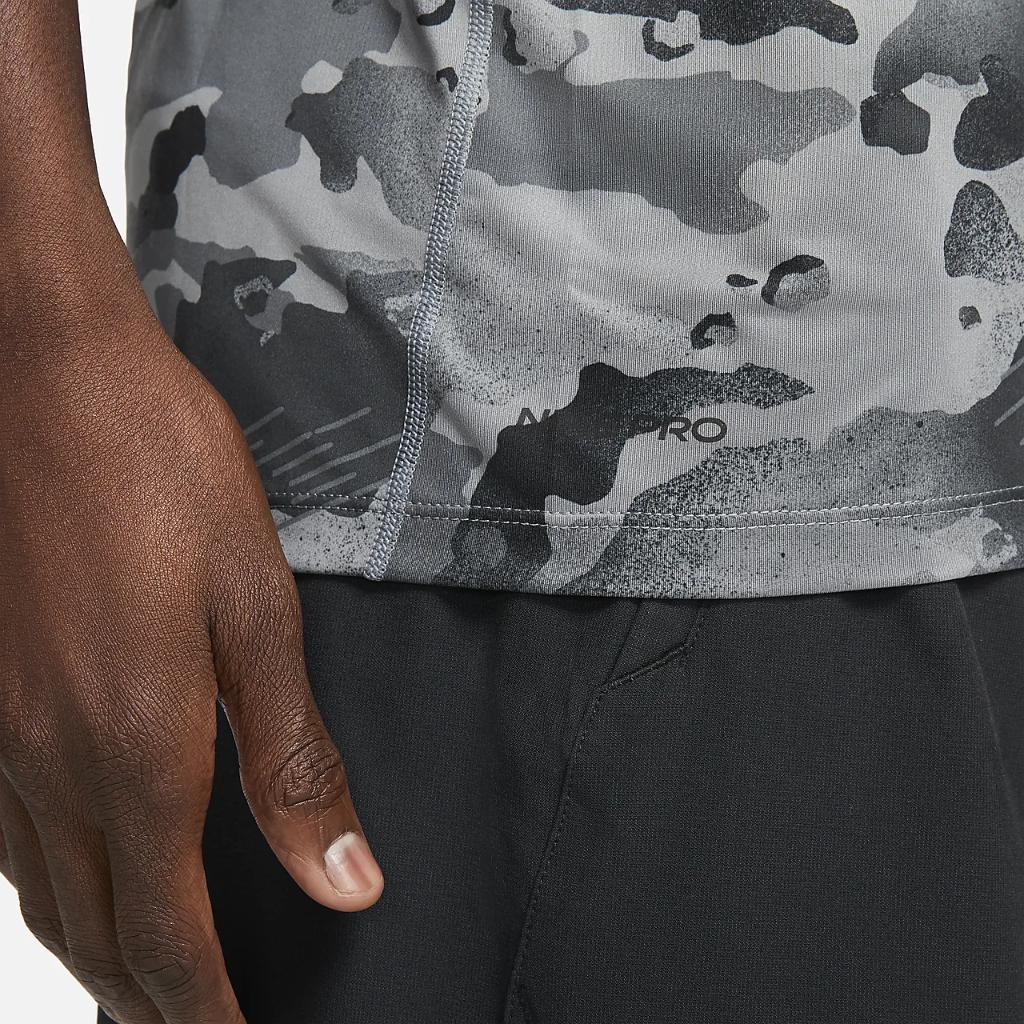 Nike Pro Men's Short-Sleeve Camo Top CZ1252-084