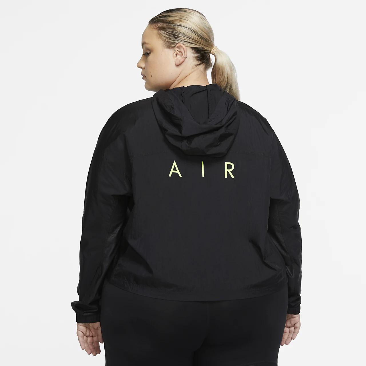 Nike Air Women's Hooded Running Jacket (Plus Size) CZ3143-010