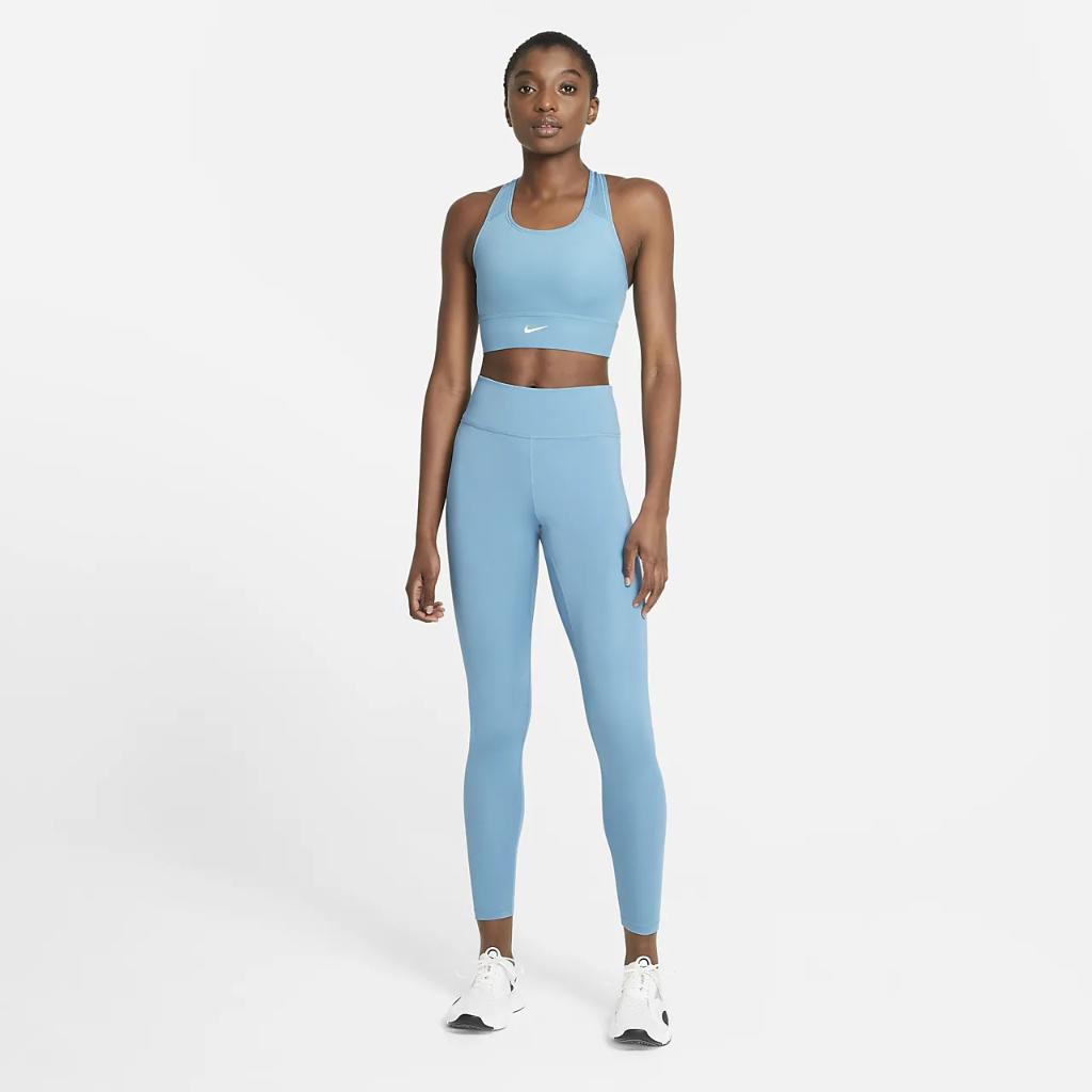 Nike Dri-FIT Swoosh Women's Medium-Support 1-Piece Padded Longline Sports Bra CZ4496-424