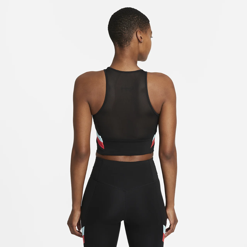 Nike Women's Color-Block Stripe Cropped Training Tank DA0921-010