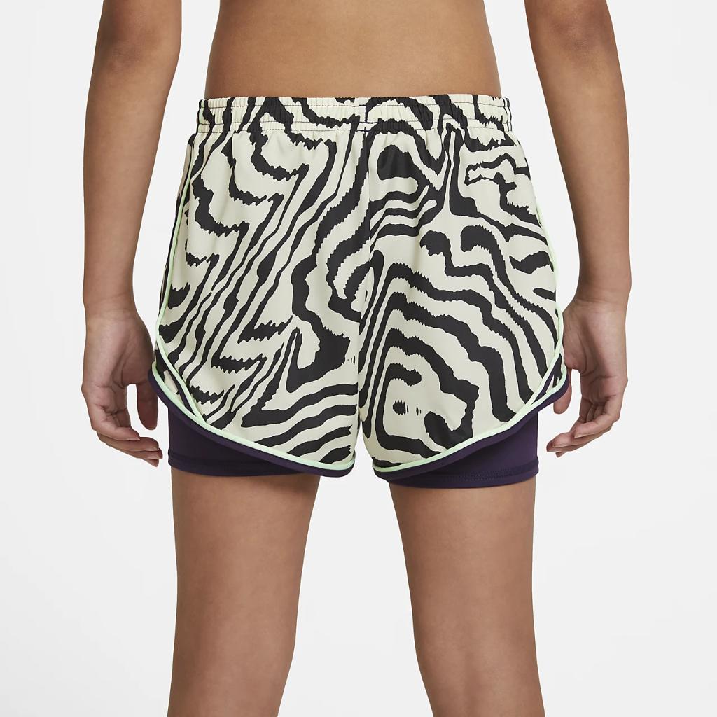 Nike Dri-FIT Tempo Big Kids' (Girls') Printed Running Shorts DA1007-525