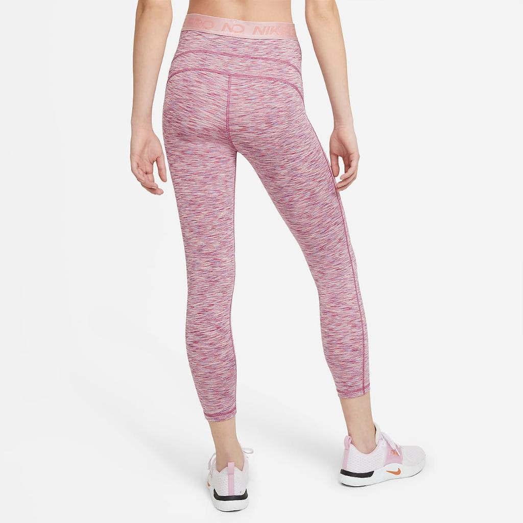 Nike Pro Women's High-Waisted Crop Space-Dye Leggings DA1012-633