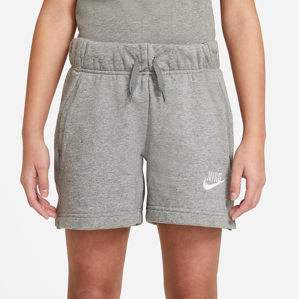 Nike Sportswear Club Big Kids' (Girls') French Terry Shorts DA1405-091