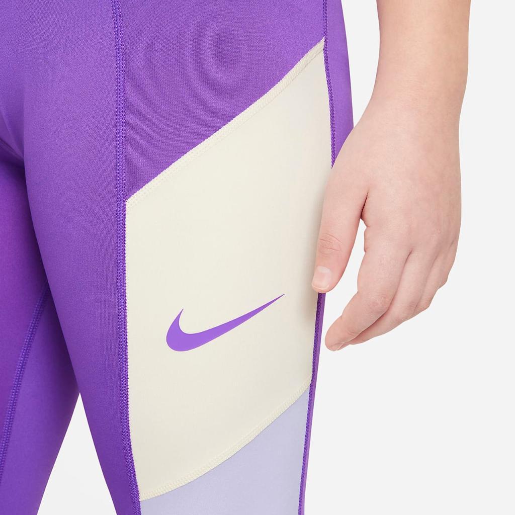 Nike Trophy Big Kids' (Girls') Training Leggings (Extended Size) DA5163-528