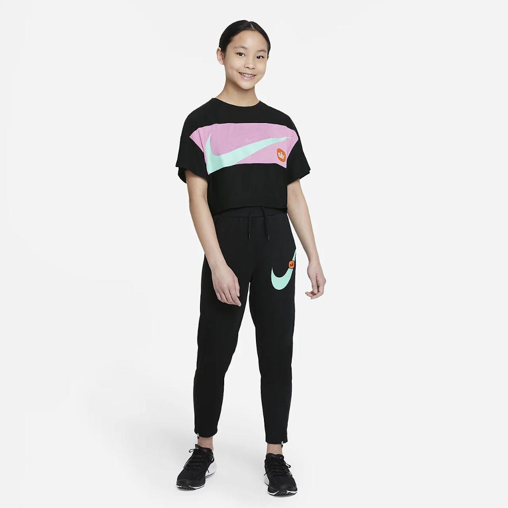 Nike Big Kids' (Girls') Short-Sleeve Training Top DB5977-010