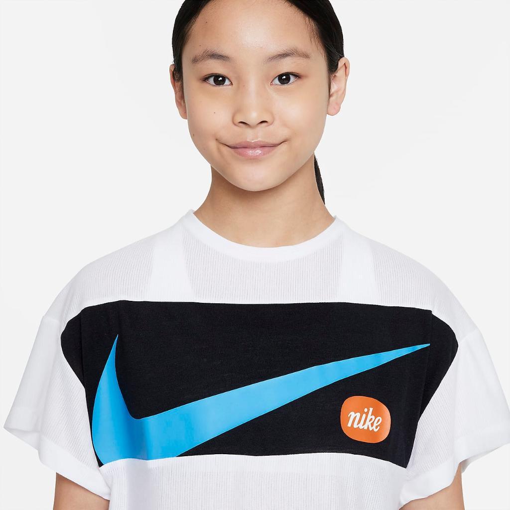 Nike Big Kids' (Girls') Short-Sleeve Training Top DB5977-100