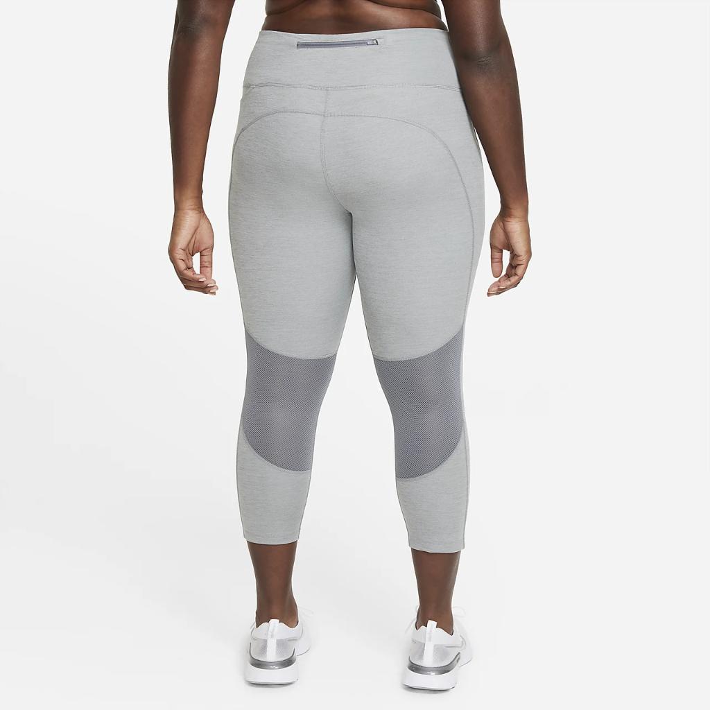 Nike Fast Women's Mid-Rise Crop Running Leggings (Plus Size) DC6915-084