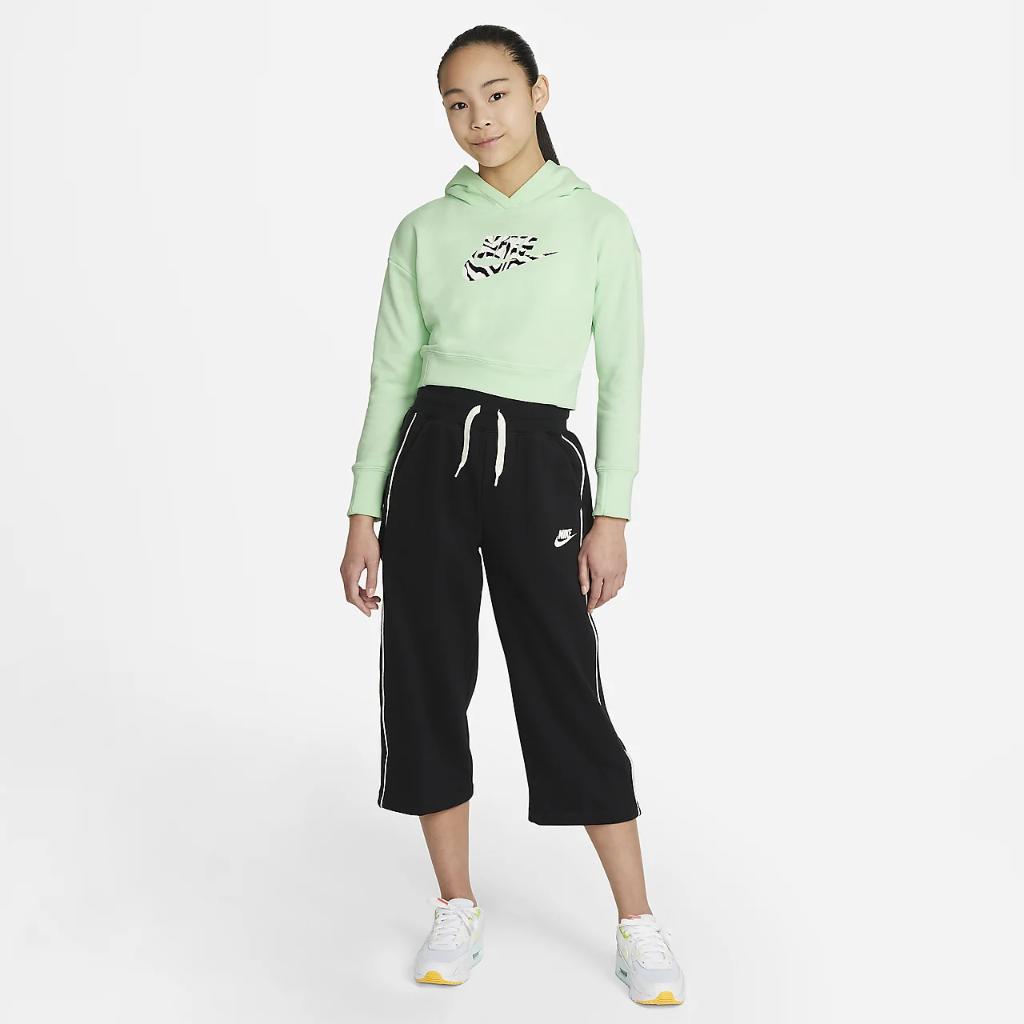 Nike Sportswear Big Kids' (Girls') Cropped Hoodie DC9763-390