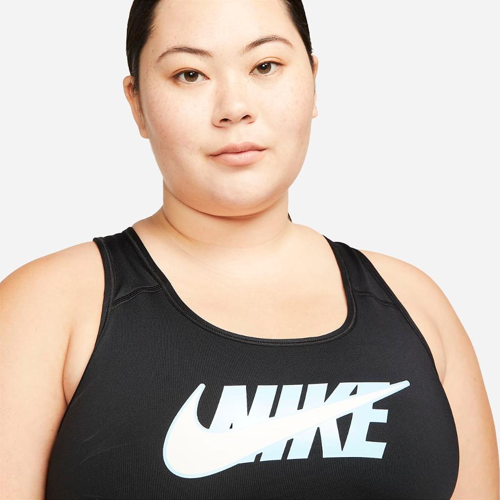 Nike Dri-FIT Swoosh Icon Clash Women's Medium-Support Non-Padded Sports Bra (Plus Size) DD2322-010