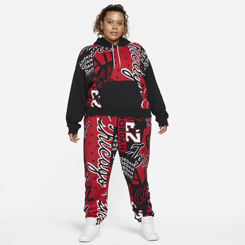 Jordan Women's Fleece Allover Printed Pants (Plus Size) DD9300-687