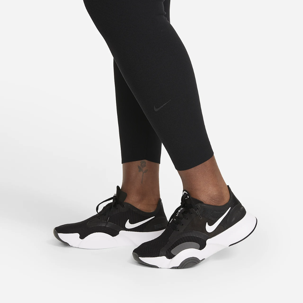 Nike One Luxe Women's Mid-Rise Ribbed Leggings (Plus Size) DH3178-010