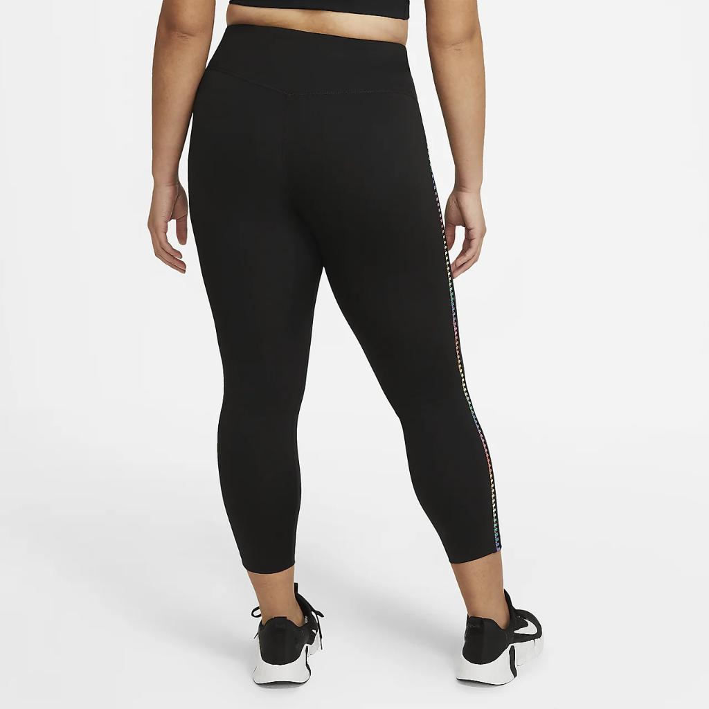 Nike One Rainbow Ladder Women's 7/8 Leggings (Plus Size) DH3180-010