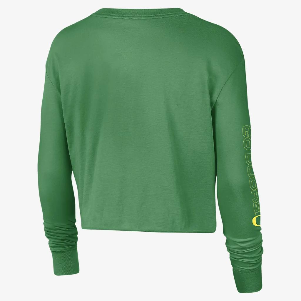 Nike College (Oregon) Women's Long-Sleeve Crop Sweatshirt DJ2352-377