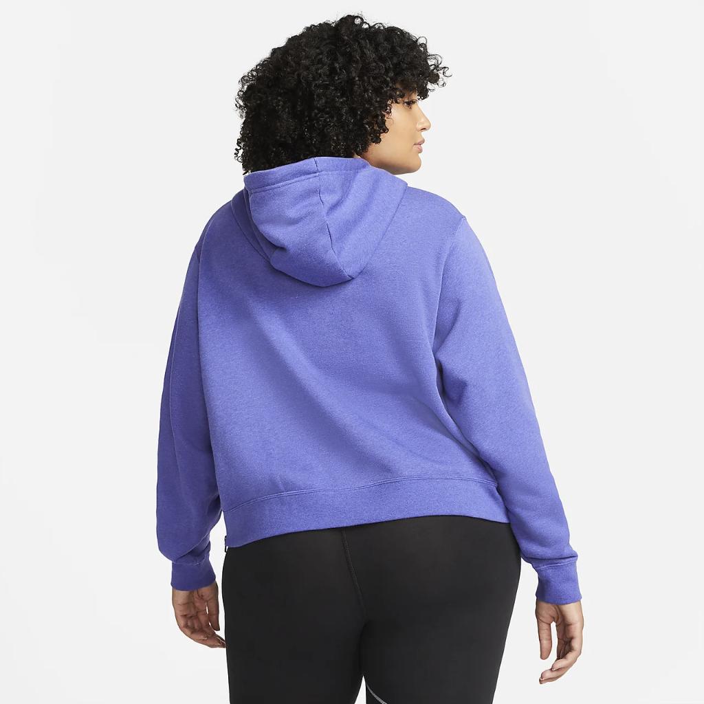 Nike Sportswear Essentials Women's Oversized Fleece Hoodie (Plus Size) DJ6683-430