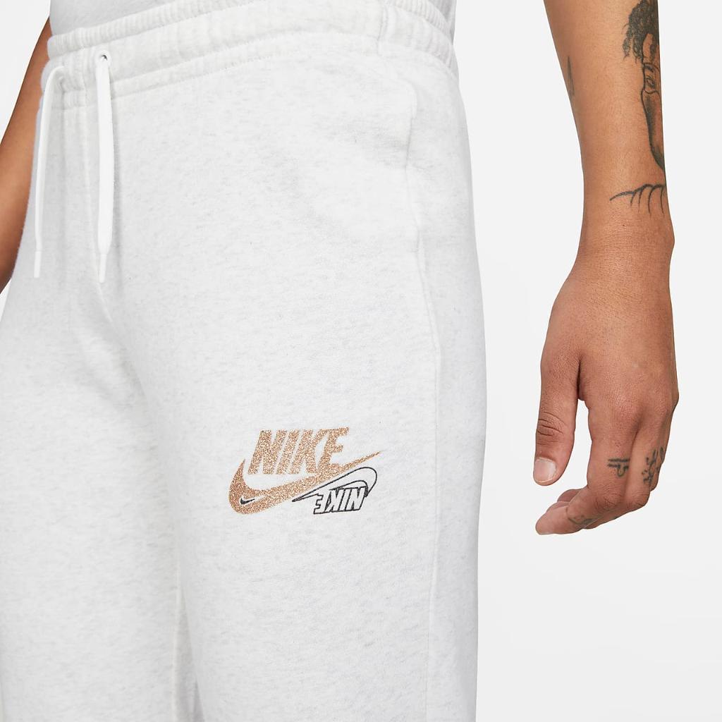 Nike Sportswear Club Fleece Women's Tight Fit Glitter Pants DQ3542-051