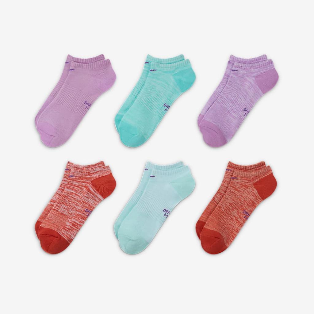 Nike Everyday Women's Lightweight No-Show Training Socks (6 Pairs) SX7573-970